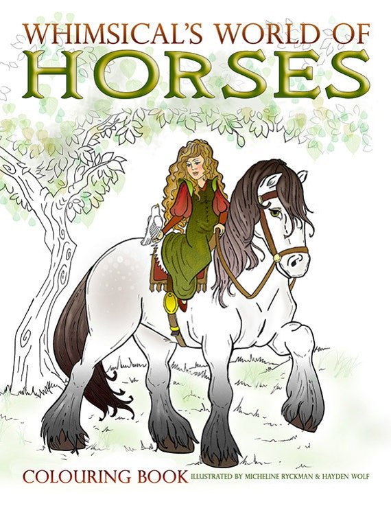 Horse and Equestrian Coloring Books
