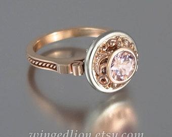OLGA 14K gold ring with Morganite