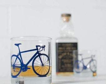 BICYCLE GLASSES rocks bike screenprint glassware