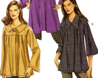 High fashion jacket Spring Summer Modern style Unlined Casual chic sewing pattern Vogue 8460 Sz XS to Medium UNCUT
