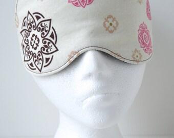 Bohemian Henna Travel, Eye, Sleep Mask ~ Comfortable ~ Light Blocking ~ READY TO SHIP