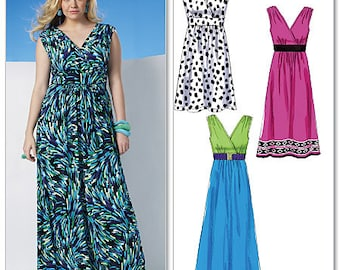 Summer Dress, Maxi Dress, Beach Cover-Up, McCalls M6073 Easy Sewing Pattern - US Sizes: 8 -10 -12 -14 -16 or 18w -20w -22w -24w