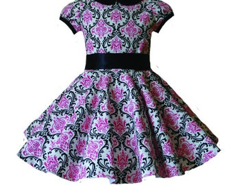 Fun party dress with full skirt girl sizes 1-6