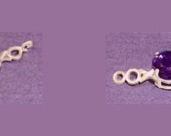 Sterling Silver ~ 6mm 7mm or 8mm ~ Round cut ~ X's and O's Design ~ Bracelet links settings / Mountings ~ to be ordered ~ #167815 ~ FDK