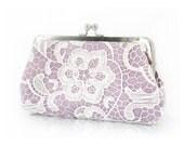 Lilac Lace Clutch | Bridal Clutch | L'HERITAGE