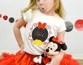 Disney Inspired Applique Shirt, Minnie Inspired Applique Shirt, Disney Vacation Shirt, Happiest Place on Earth Shirt, LDM