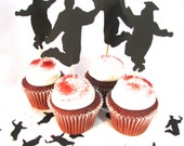 Graduation Cupcake Toppers - Jumping For Joy Graduate - Cake Topper Eco Friendly Set of 12