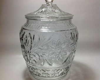 Anchor Hocking Sandwich Glass Cookie Jar
