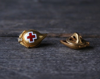 Choice of Vintage Red Cross Tie  Pin Number two Or Number Three Blood Drop Shaped From Nowvintage on Etsy