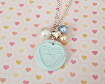 Love Heart Sweetie Necklace Blue
