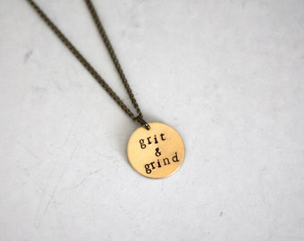 Grit and grind // grit n grind hand stamped memphis grizzlies necklace with hand stamped basketball