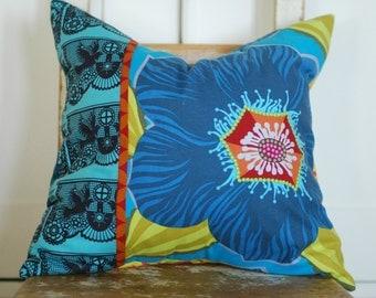 Bohemian Pillows, Decorative Pillows, Boho Pillows, Blue  Throw Pillows, Floral Pillows, Cottage Chic Pillows, Bird Pillows, Boho Chic