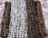 Garden Crocheted Scarf Multi-yarn Collection