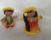 Hula Art Dolls Ooak: Hi'iaka and Lohi'au