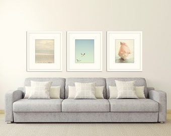 Beach Prints Coastal Wall Art Ocean Decor Nautical Wall Decor Print Set Of  3 Ocean Photography