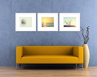 nautical decor set of 3 prints, coastal wall art, ocean photography, gallery wall art, coastal prints, set of 3 photos, ocean wall decor