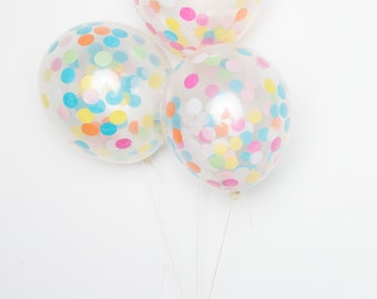 "Confetti Balloons / 11"" Multicolor DIY Set of 12"