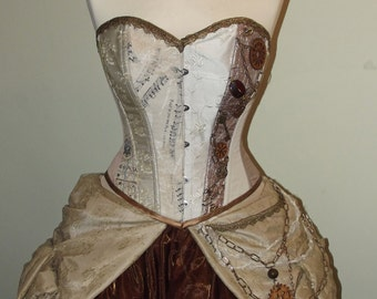 MADE TO ORDER Steampunk inspired wedding / prom dress/ gown