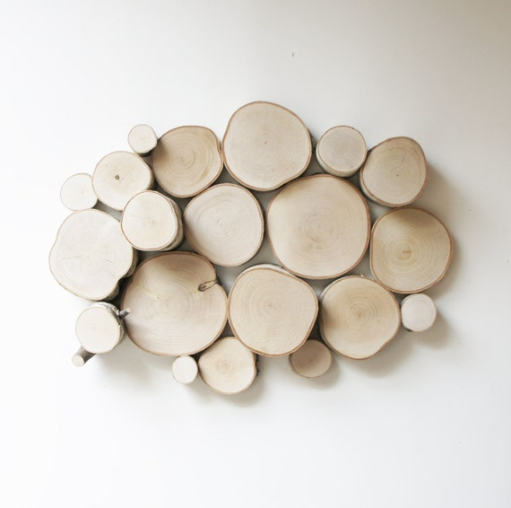 natural white birch forest topography wall art - wall sculpture, wood slices wall art, wood wall decor, tree branch wall hanging