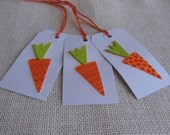 Easter Gift Tags Set of SIX Easter Carrot Gift Tags Gift Embellishment Gift Wrap Tag SnowNoseCrafts