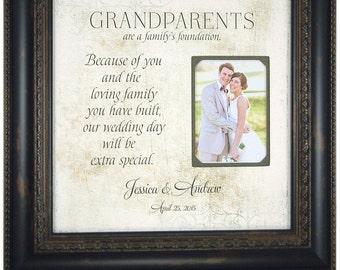 Grandparents Gift, Photo Frame, Thank You Gift, Wedding Nana Papa Grandma Grandpa, Grandmother Grandfather Wedding Gift, Photo Mat, 16 X 16