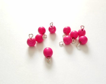 Brigh Pink Turquoise Dangle Beads