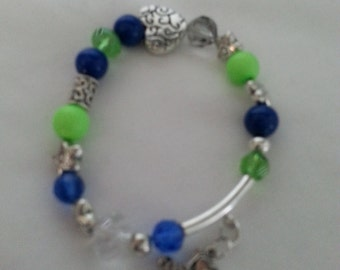 SEAHAWKS! Seattle Seahawk Bracelets and Charms. Choose a style or I'll design a special Bracelet, you pick the charm.