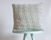 hand knitted cushion, gray - No.1