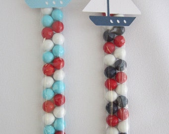 Nautical Boat Candy Party Favors Light Blue Navy Red Baby Shower