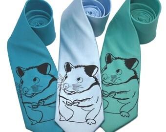 Hamster Tie screen printed Necktie