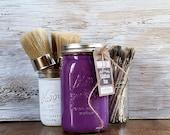Handmade ChalkFinish Paint, Purple, Halloween Decorations, Outdoor Halloween Decorations, Fall Gifts, DIY Fall Decor, Purple Pillows, Fall