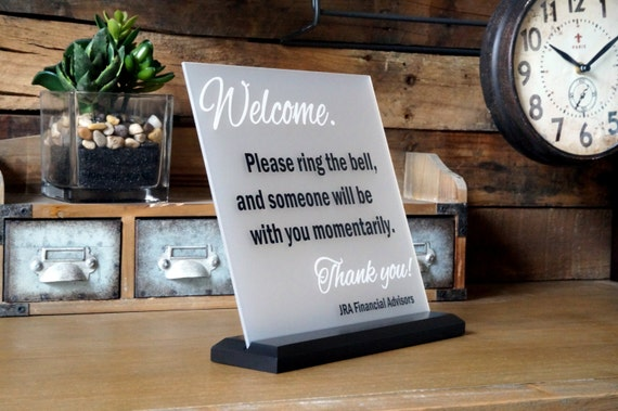 Custom Business Sign Welcome Sign Office Sign 10 by GaroSigns