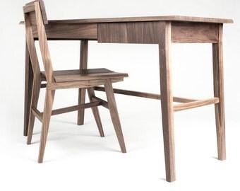 Rift Hardwood Walnut Writing Desk