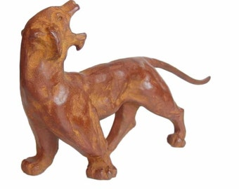 Bronze Sculpture of a Tiger. Modern. Bold. Japanese. Interior Object.