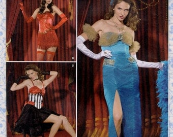 Simplicity 2535 ShowGirls Saloon Girl Costume Womens Sewing Patterns Burlesque Dancer Dress Size 16 to 24 Bust 38 to 46 Uncut