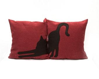 Big cat pillow covers, decorative pillows, cat lovers, cat pillows, fundas de cojín, pet pillows, cat cushions, dorm pillow
