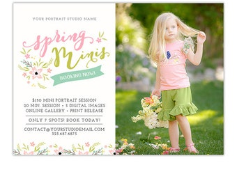 Spring Mini Session Template, Mini Session Marketing, Photography Marketing Template, Photography Marketing Board, Marketing Card - AD175