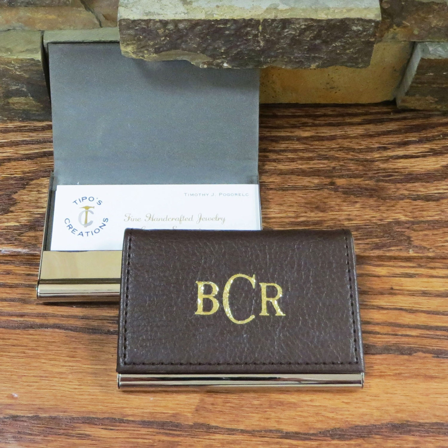 Leather Business Card Holder Gifts for Men fice Gift
