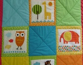 RESERVED. Baby animals quilt.