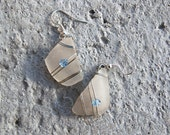 Wire Wrapped Sea Glass Earrings - Beach Glass Earrings - Wire Wrapped Jewelry Handmade - Wire Earrings - Recycled Jewelry - Nature Jewelry