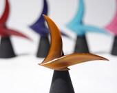 Buch Deichmann Bird Brooch - Modernist Seagull Pin - Toffee Brown - Denmark Danish - Signed