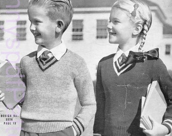 1940's Children's knitting Patterns - Sun Glo Knitting Pattern Booklet No- 35 - PDF Copy