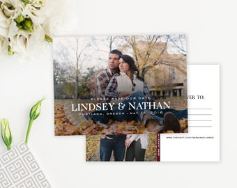 Simple Photo Save-The-Date wedding invitation - customizable