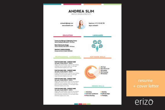 items similar to infographic cv resume template cover
