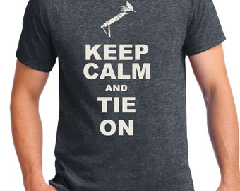 Fly Tying Shirt, Fly Fishing Shirt, Keep Calm, Fly Vise, Fisherman, Go fly fishing, Fish