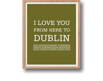 Travel Artwork,  Travel poster, Dublin Artwork