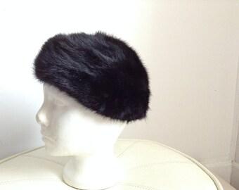 Gwenn Pennington Black Mink Fur hat