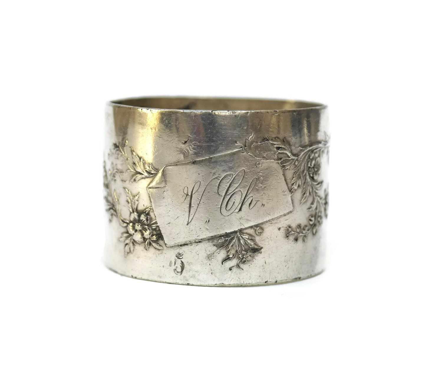 antique silver napkin ring vintage by lebonheurdujour