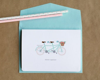 Tandem Bicycle 'Better Together' Love Card