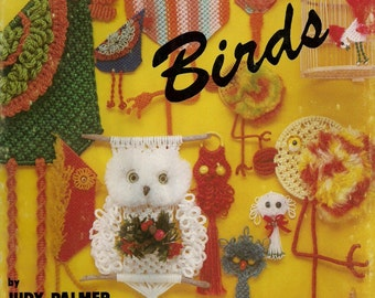 Vintage Macrame Is For The Birds Craft Book Patterns for Owl Clock and More